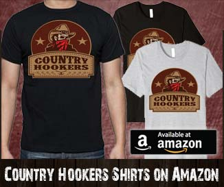 Country Hookers Fishing Shirt on Amazon