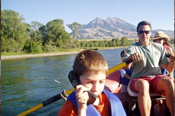 Family in a Canoe