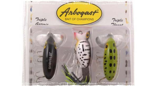 Arbogast Tripple Threat Top Water Lures
