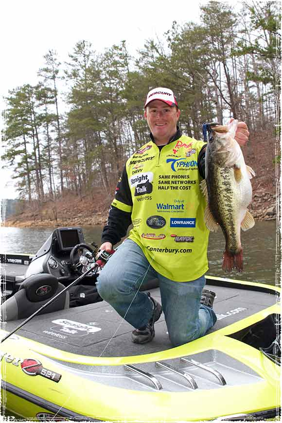 Scott Canterbury Holding a Monster Bass