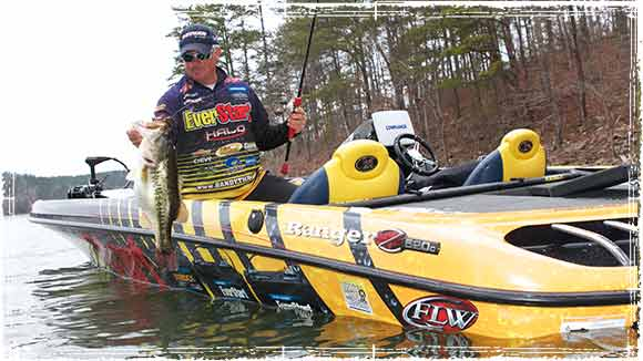 Randall Tharp Pulling in a Bass
