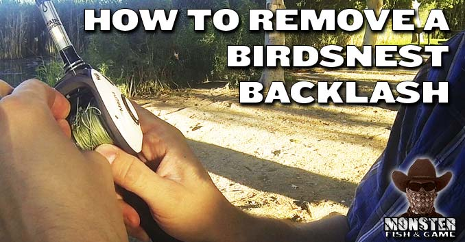 How to get rid of a Birdsnest in a Baitcaster after a Backlash