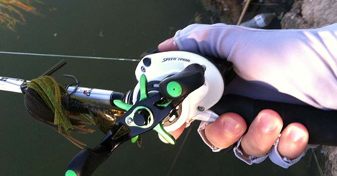 Holding a Lew's Reel attached to an Abu Garcia Rod