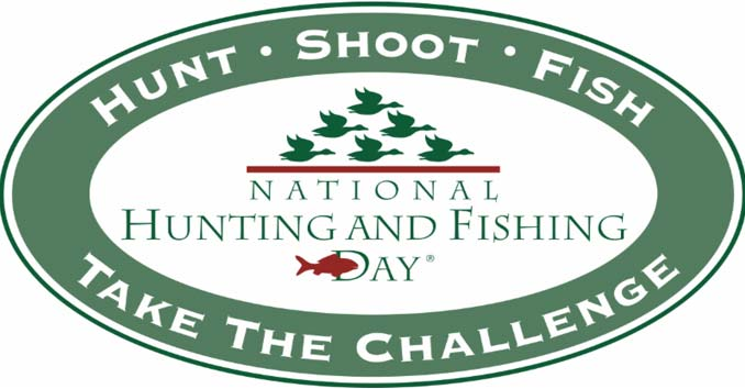 Hunting Fishing Day Logo