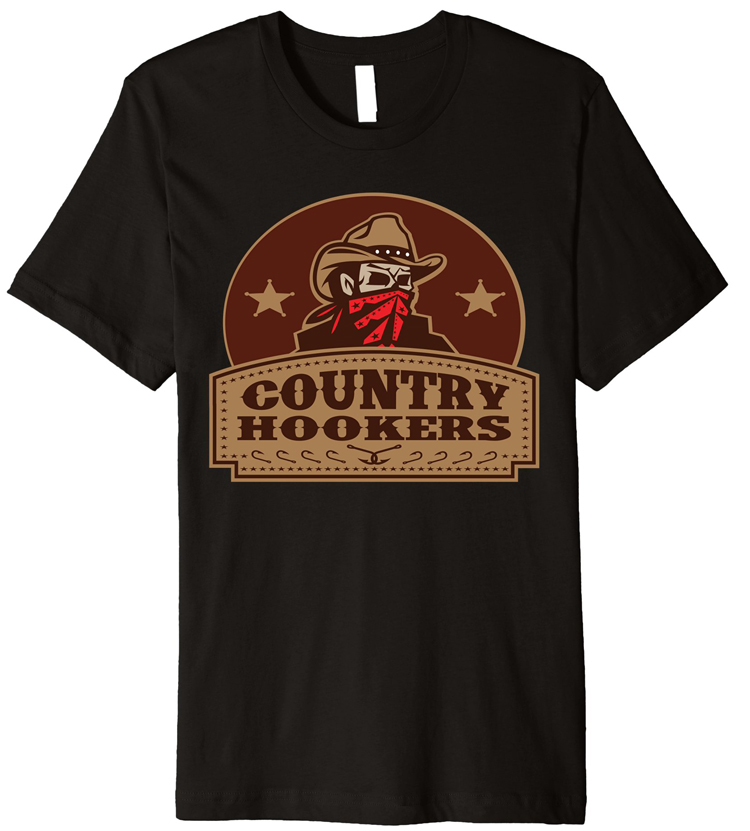 Mens Black Country Hookers Fishing T-Shirt