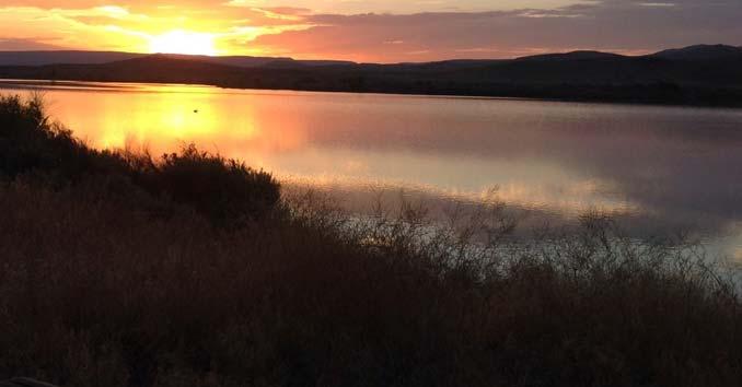 Sheep Creek Reservoir in Northern Nevada