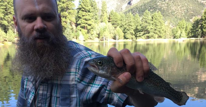 Fishing for Rainbow Trout at Little Reservoir in Utah