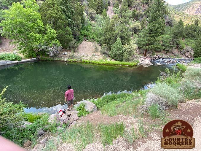 Fishing the Beaver River above the town of Beaver, Utah