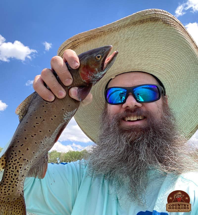 Cutthroat Trout caught at Kents Lake Utah